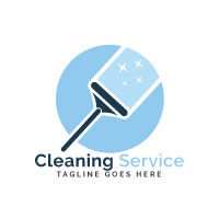 Cleaning Service Logo Design.