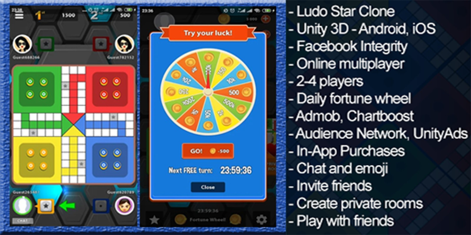 Ludo Multiplayer - Complete Unity Project