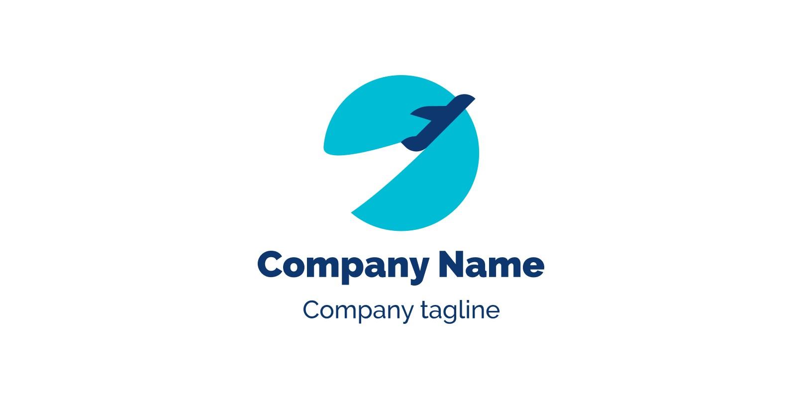Taking Off Plane Logo Template