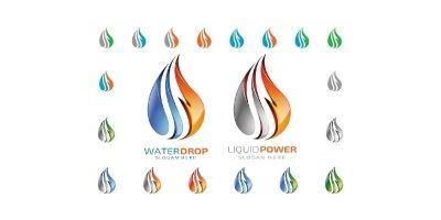 3D Water Drop Logo