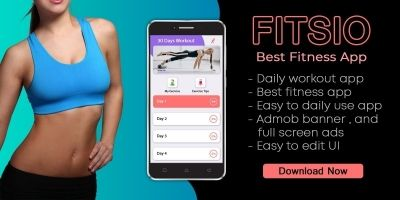 Fitsio - Android Fitness Workout App