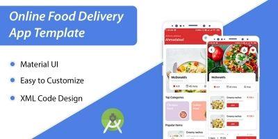 Food Delivery App XML UI Kit