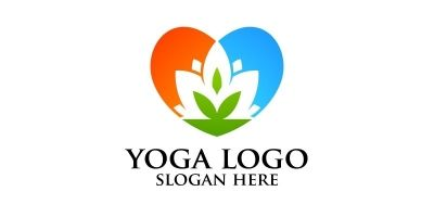 Yoga and Lotus Logo 4