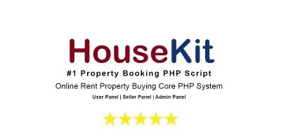 HouseKit - Rent Property Booking PHP Script