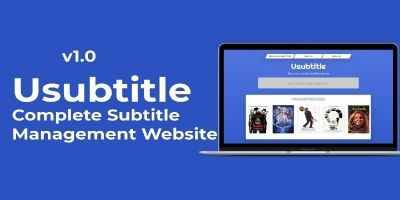 Usubtitle - Complete Subtitle Management Website