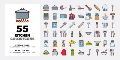 Kitchen Color Icons