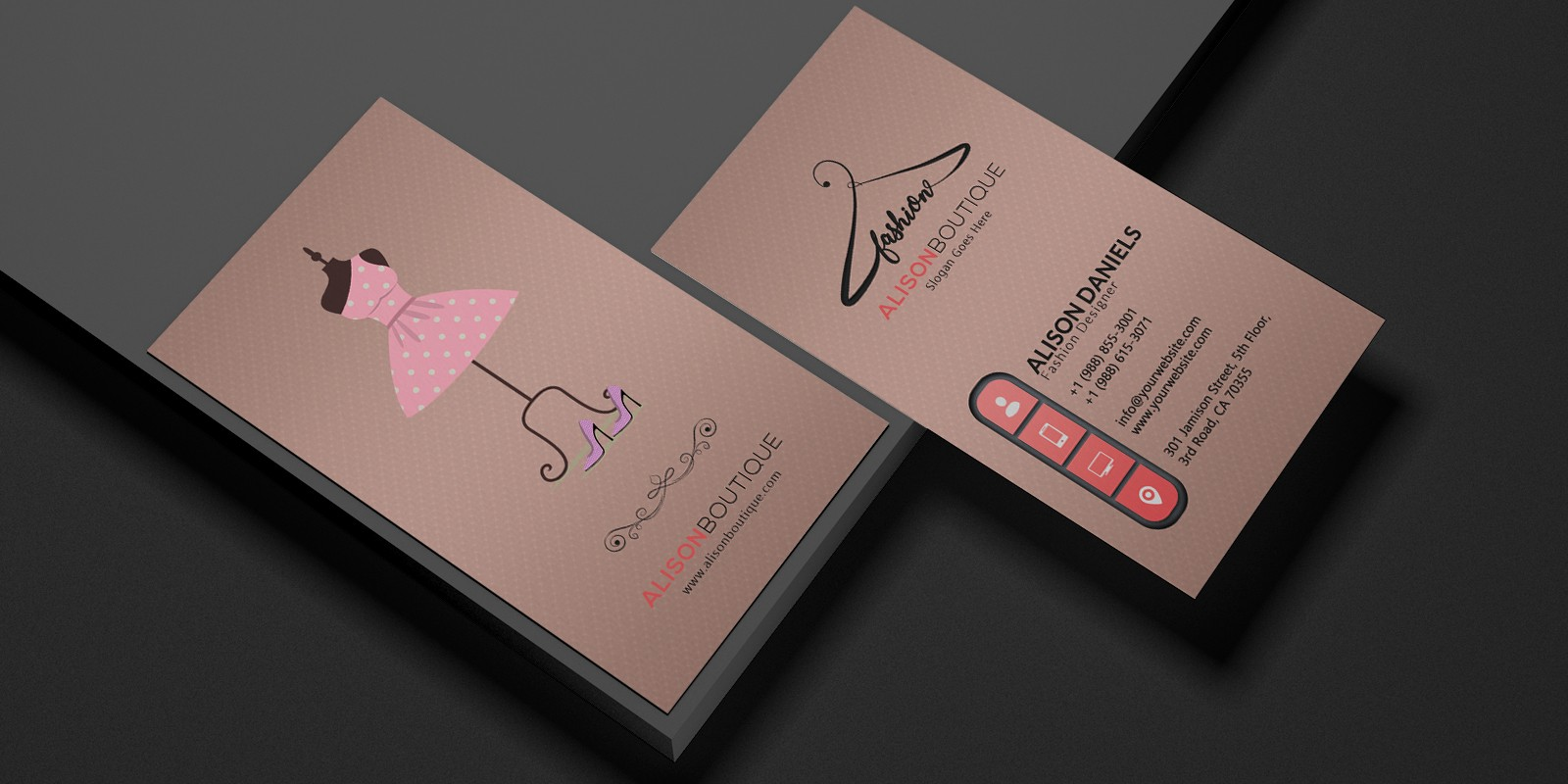 High End Boutique Business Card By Bakkar Codester