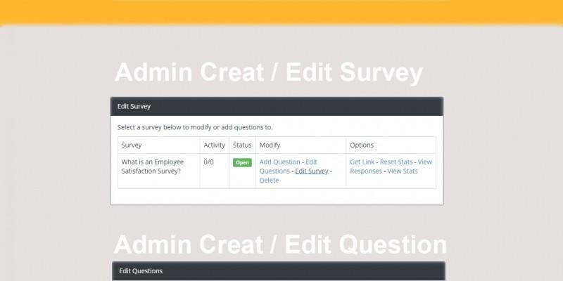 Survey QA Wizard System PHP