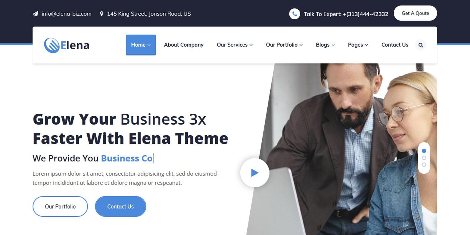 Elena - Multipurpose Business HTML5 Template