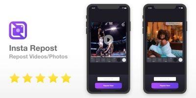 Insta Repost - Full iOS App Template