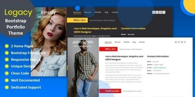 Legacy Responsive Bootstrap Portfolio Template