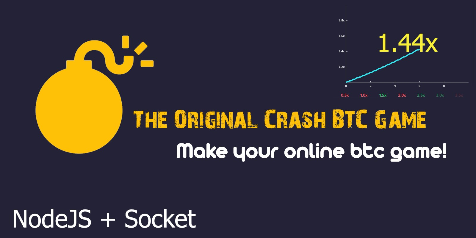 Crash BTC Game NodeJS