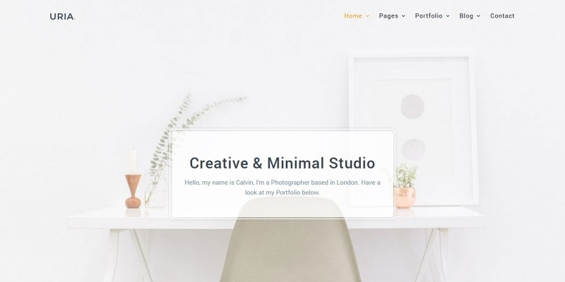 Uria - Minimal Portfolio Template
