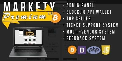 Markety Premium - Multi-Vendor Bitcoin PHP Script
