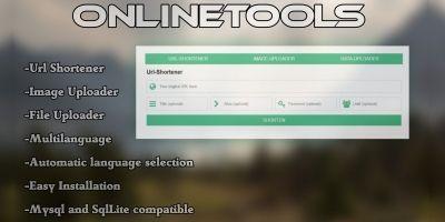 Online Tools - Shortener Uploader Downloader PHP