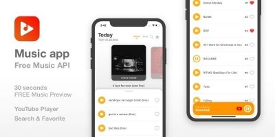 Music Streaming app -  iOS App Template