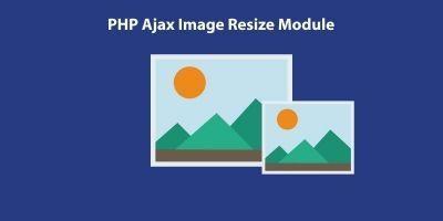 PHP Ajax Image Resize Module