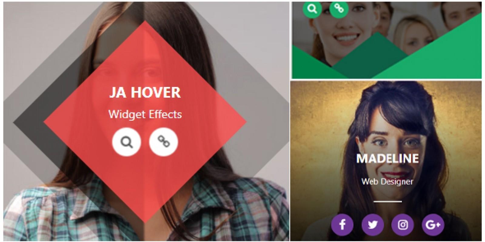 Ja Hover Widget Effect CSS