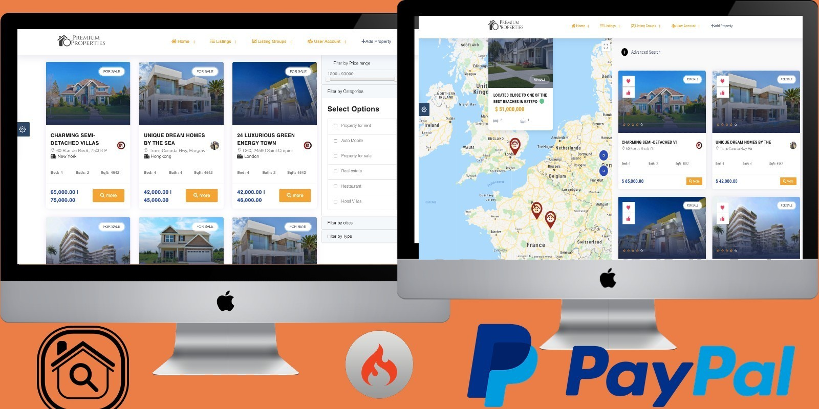 Premium Properties - Real Estate Marketplace PHP