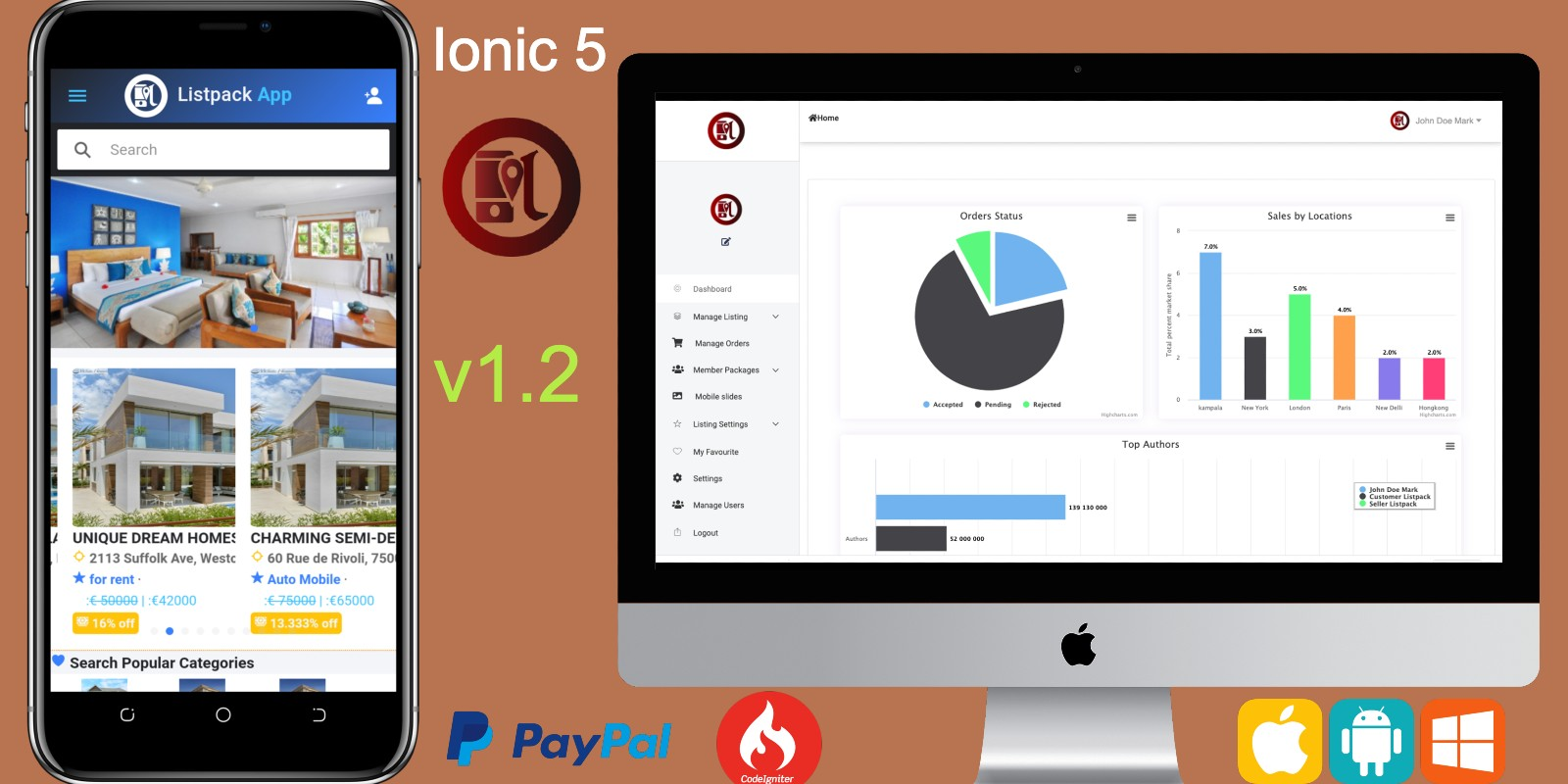 Ionic 5 Classified Ads App Template With Backend