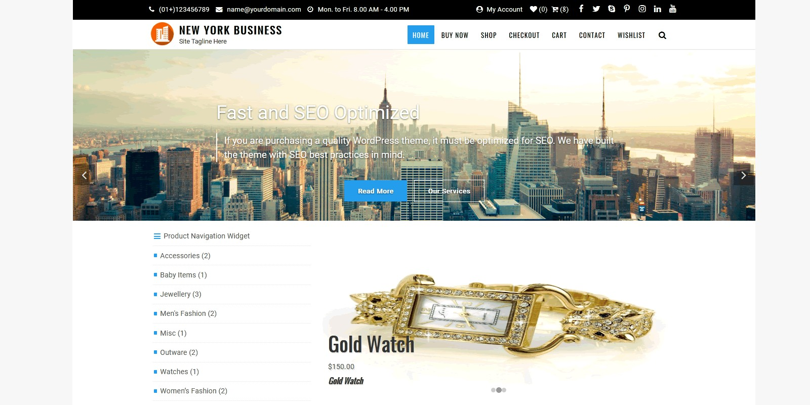 New York Business WordPress Theme
