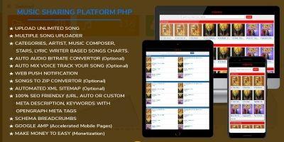 EDJSong - Music Platform PHP Script