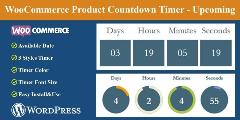 Product Countdown Timer - Upcoming for WooCommerce