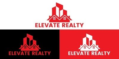 Real Estate Property Rent Logo Design Template