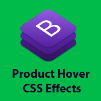 Bootstrap - Product Shopping Hover CSS Effect
