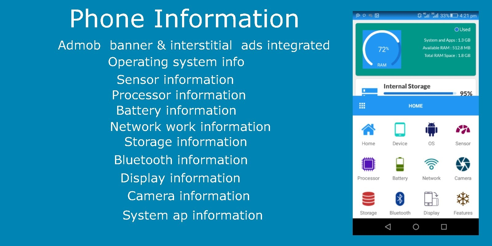 Phone Information - Android App Template