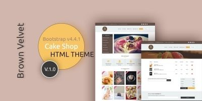 Brown Velvet Cake Shop HTML Template