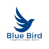 Blue Bird Logo Design