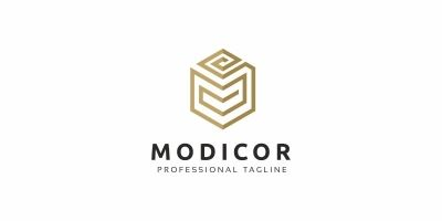 Modicor M Letter Logo