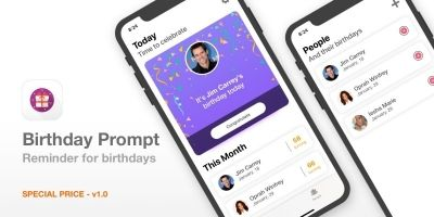 Birthday Prompt -Birthday Reminder App iOS