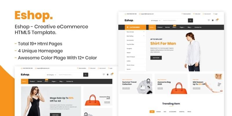 Eshop - eCommerce HTML5 Template.
