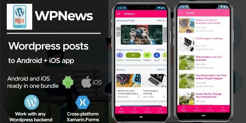 WPPosts - Wordpress To Android iOS Xamarin App