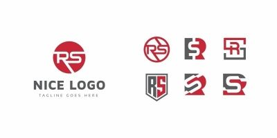 R and S Letter Set Logo
