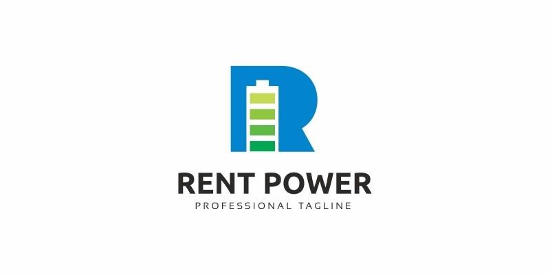 Rent Power R Letter Logo