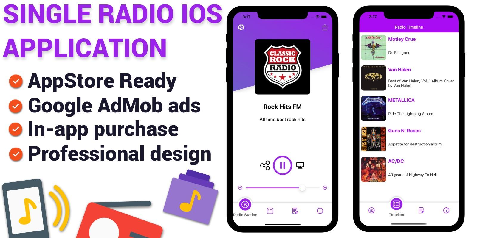 Single Station Radio - iOS App Template