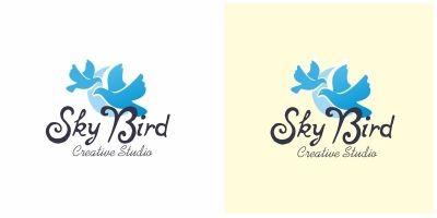 Sky Bird Dove Logo