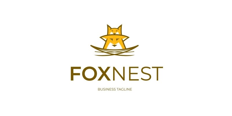 Family Fox Nest Logo Template