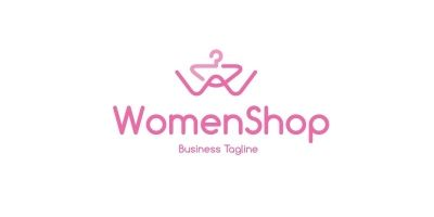 Women Fashion Shop Letter W Logo