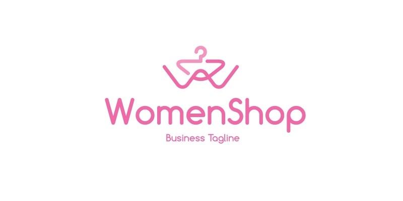 Women Fashion Shop Letter W Logo