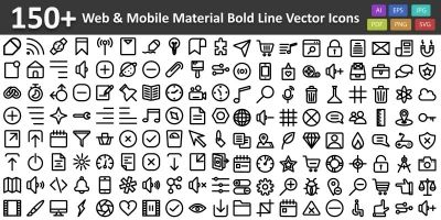 Web and Mobile Material Bold Line Vector icon