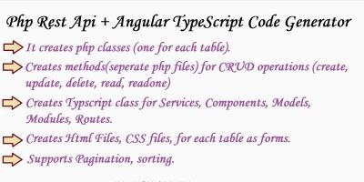 PHP Rest Api And Angular TypeScript Code Generator