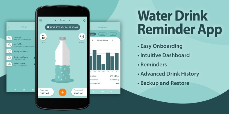 Water Drinking Reminder - Android App Template