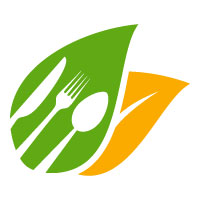 Healthy Food Logo Template for Restaurant or Cafe