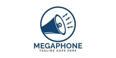 Megaphone logo design.