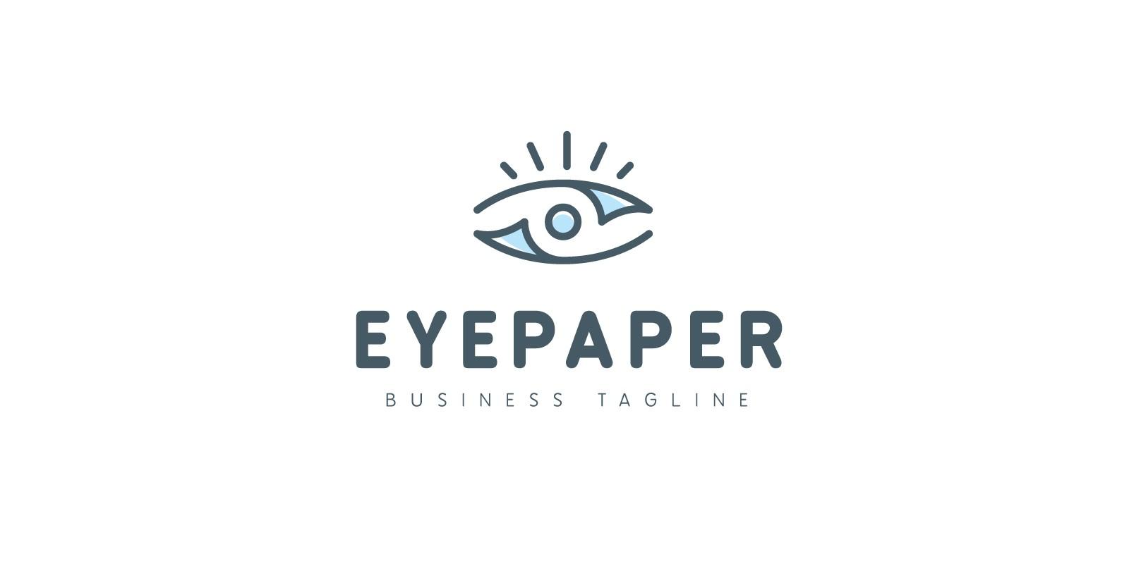 Eye Paper Logo Template