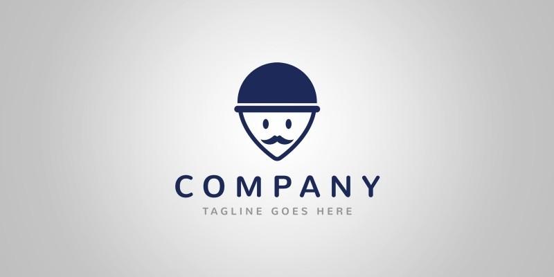 Gentleman Locator Logo Template